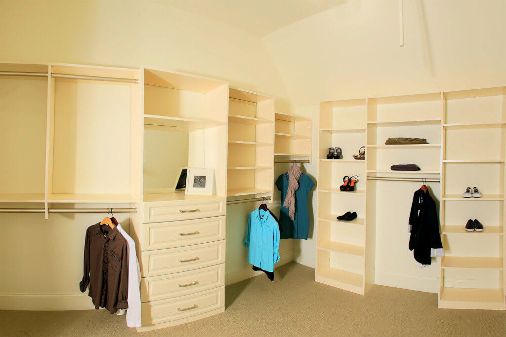 Custom Closet With Seasonal Clothing Storage